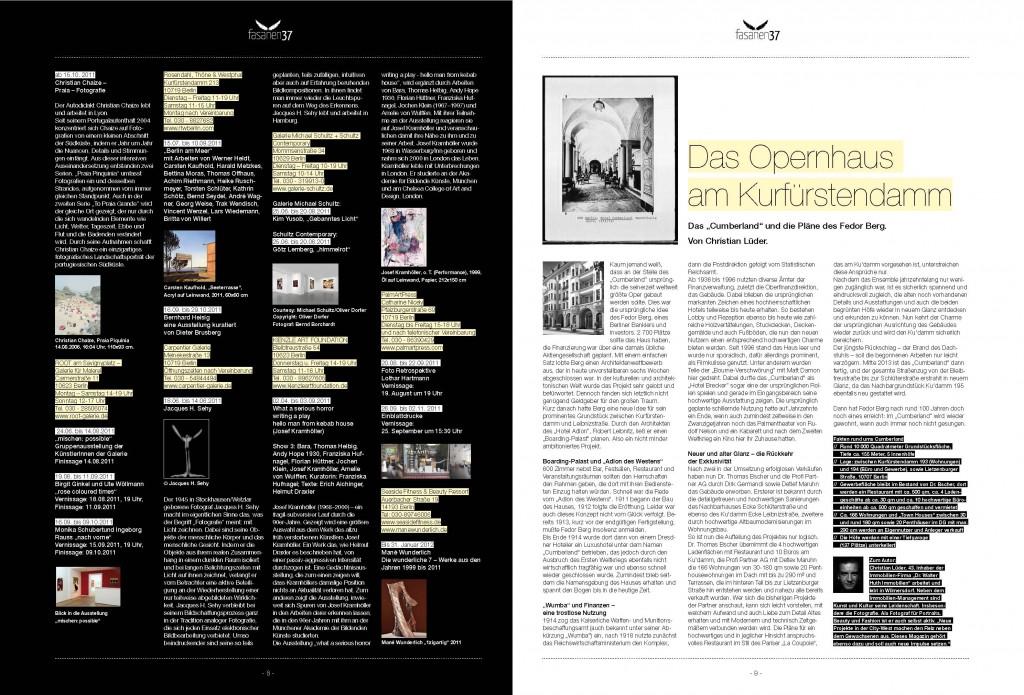 fasanen37_1-11_RZ Magazin by Udo Walz 1zigartig Die Wunderliche 7 LTTC Rot Weiss