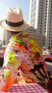 Berlin Souvenirs Karl Lagerfeld Hemd handbemalt