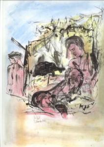 Sanssouci IX Zeichnung, Tusche auf Papier 48 x 34 cm 250-g/qm MW 000578
