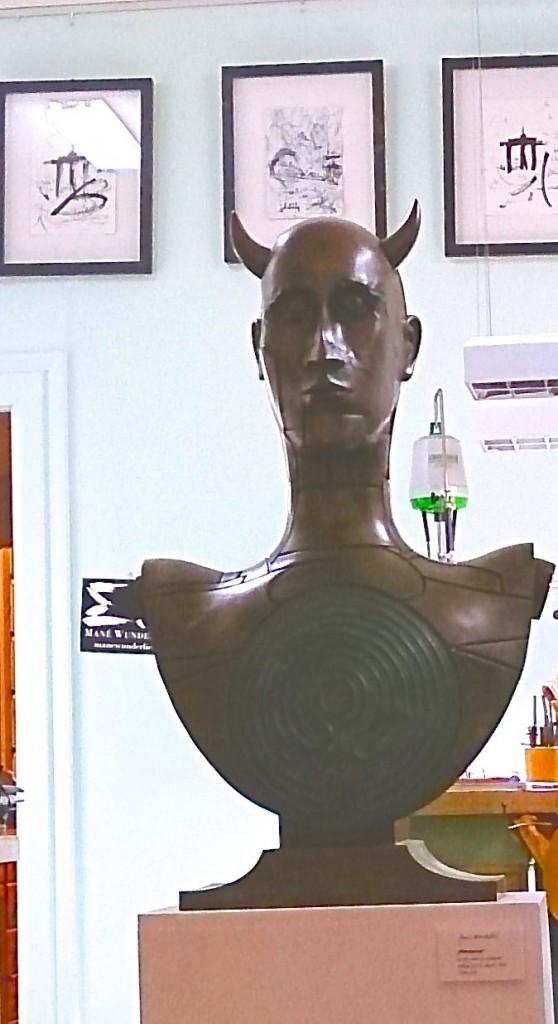 Paul Wunderlich Minotaurus Skulptur Bronze