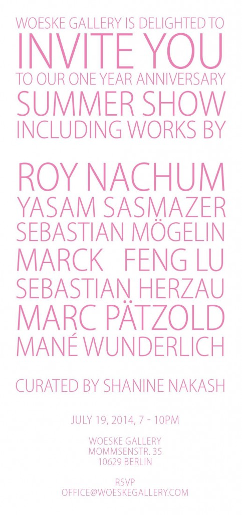 Flyer Vernissage Woeske Gallery