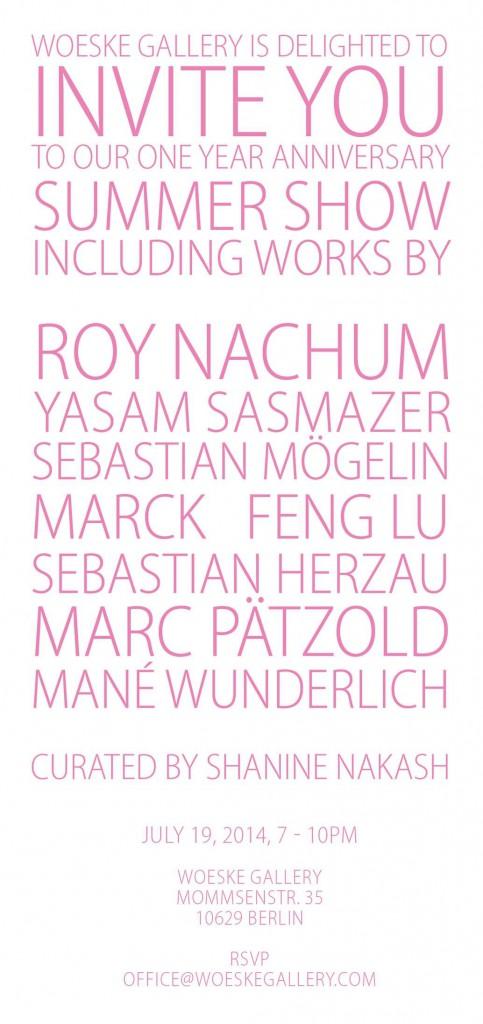 Flyer Vernissage Woeske Gallery