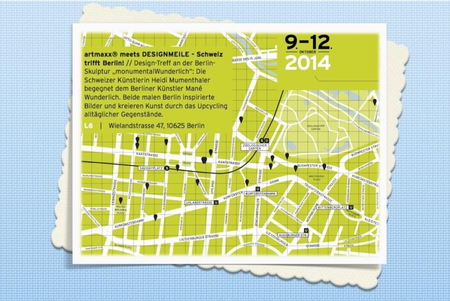 Karte Designmeile artmaxx