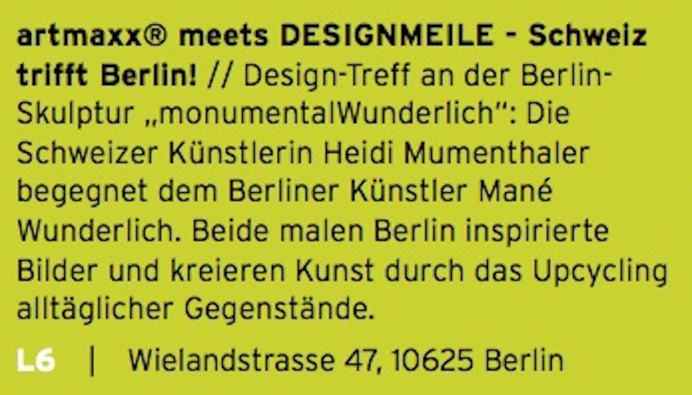 artmaxx Designmeile Berlin Kanstrasse