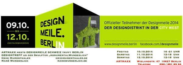designmeile artmaxx Künstlerbedarf Berlin Skulptur MonumentalWunderlich Berlin Souvenirs