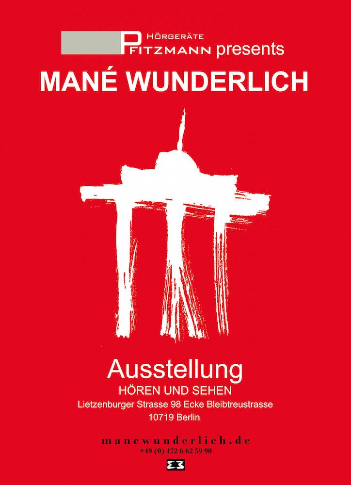 Mané Wunderlich Plakat