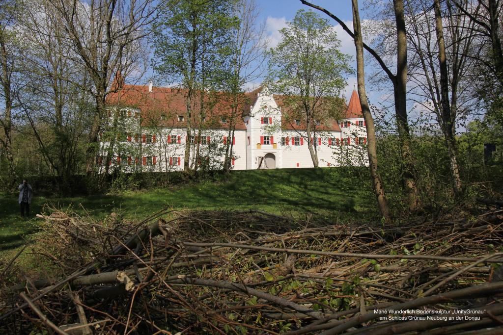 Bodenskulptur UnityGrünau Schloss Grünau