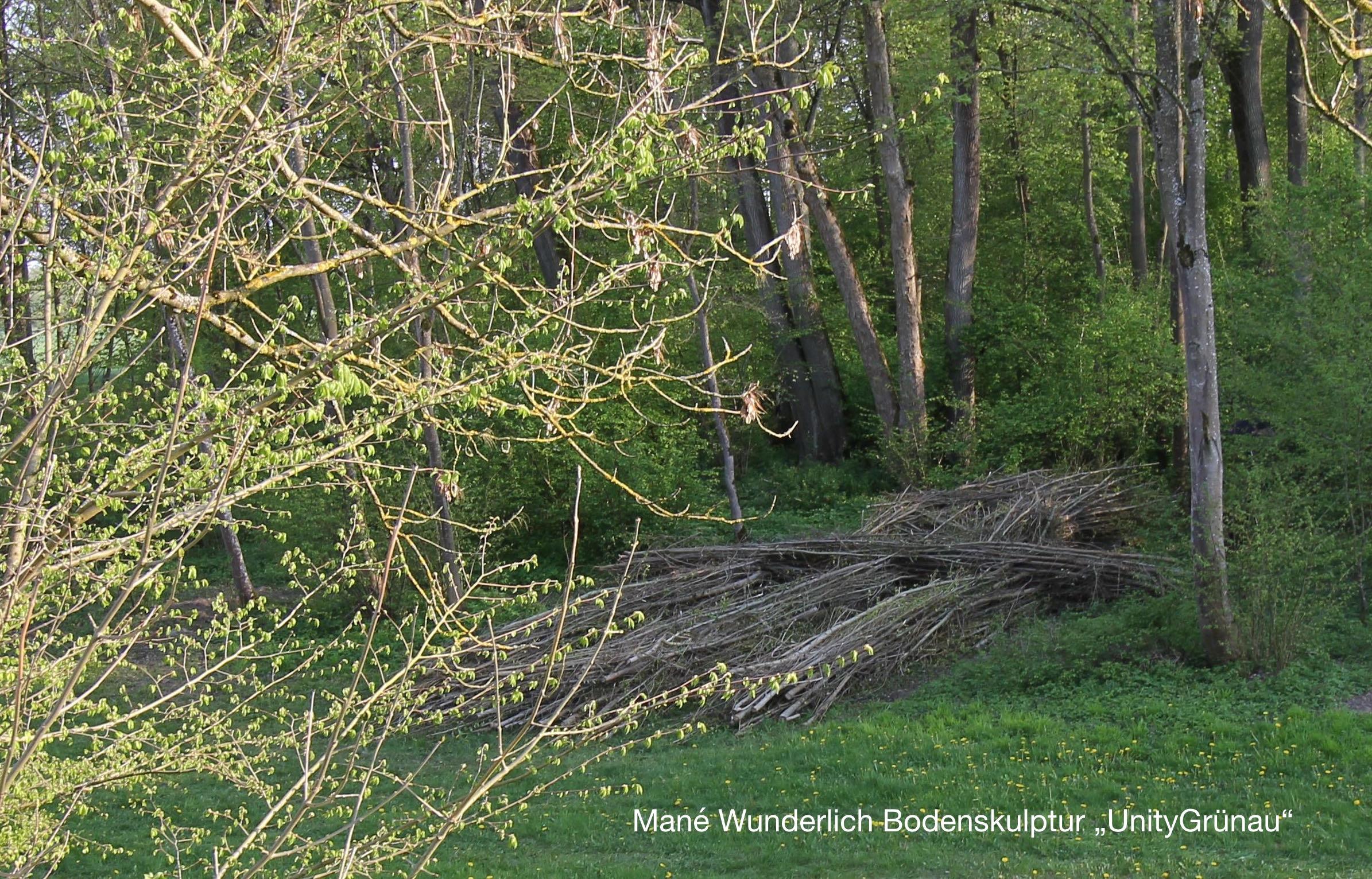 Bodenskulptur UnityGrünau Wittelsbacher Ausgleichsfond Wald