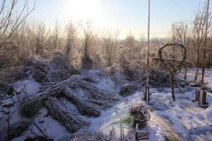Berlin´s höchster Skulpturengarten  -Winter